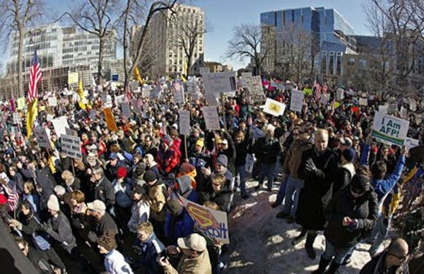 Tea party supporters in Madison
