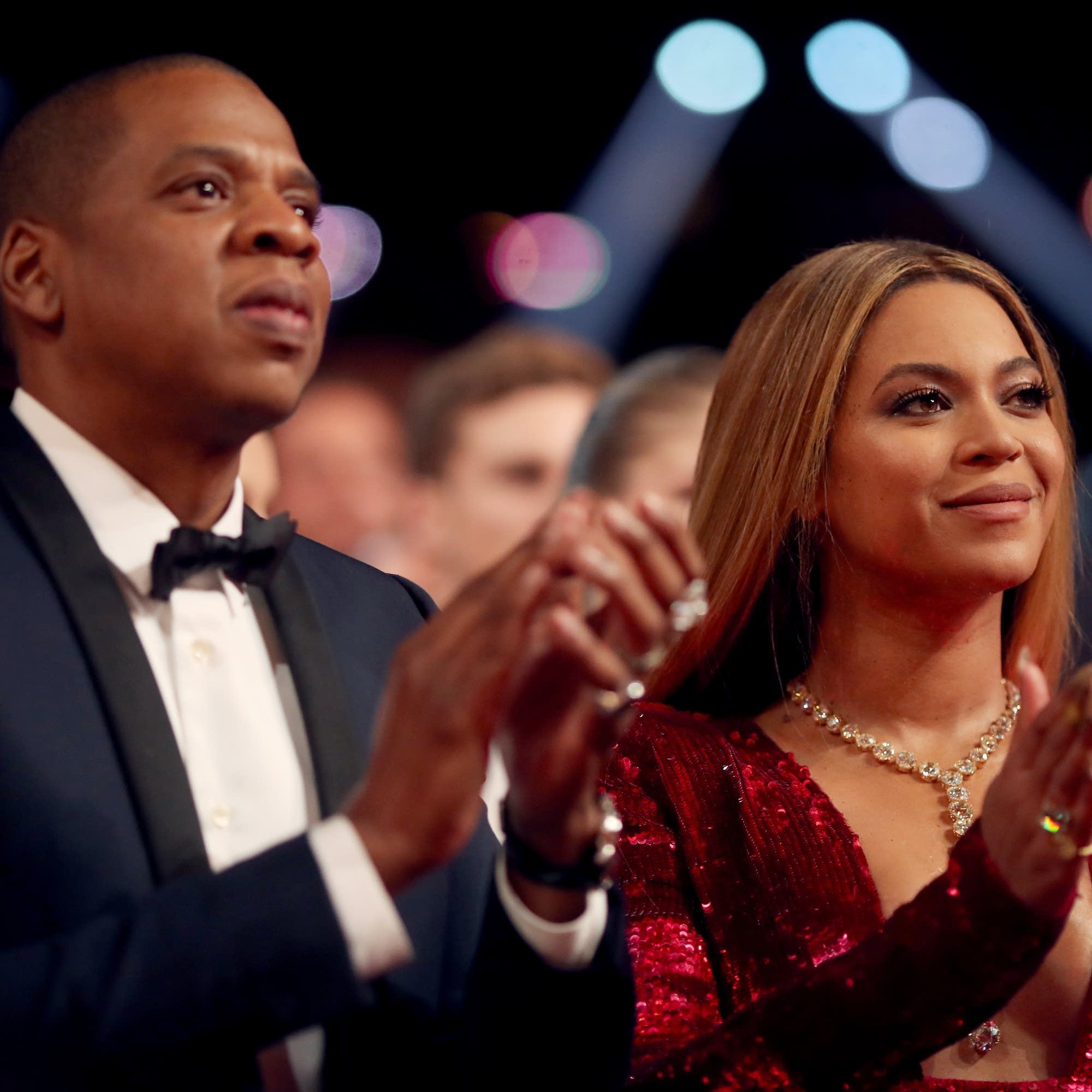 Jay-Z and Beyonce at the 2017 Grammys.