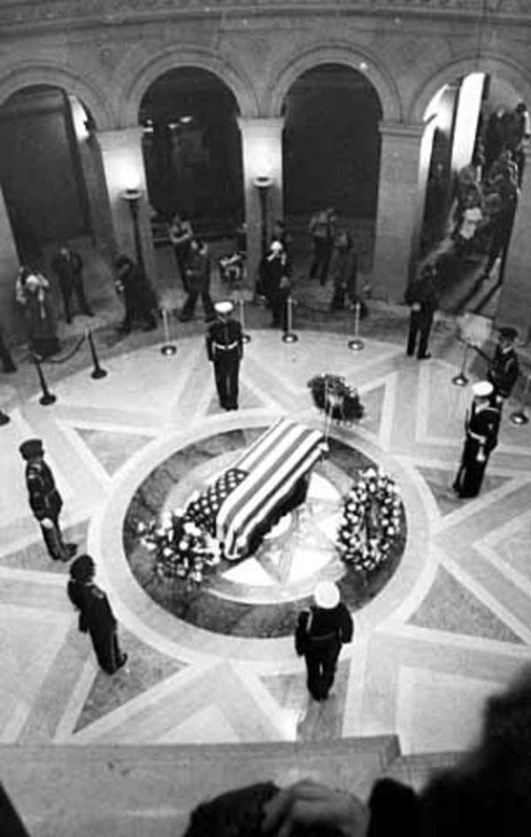 Hubert Humphrey's funeral