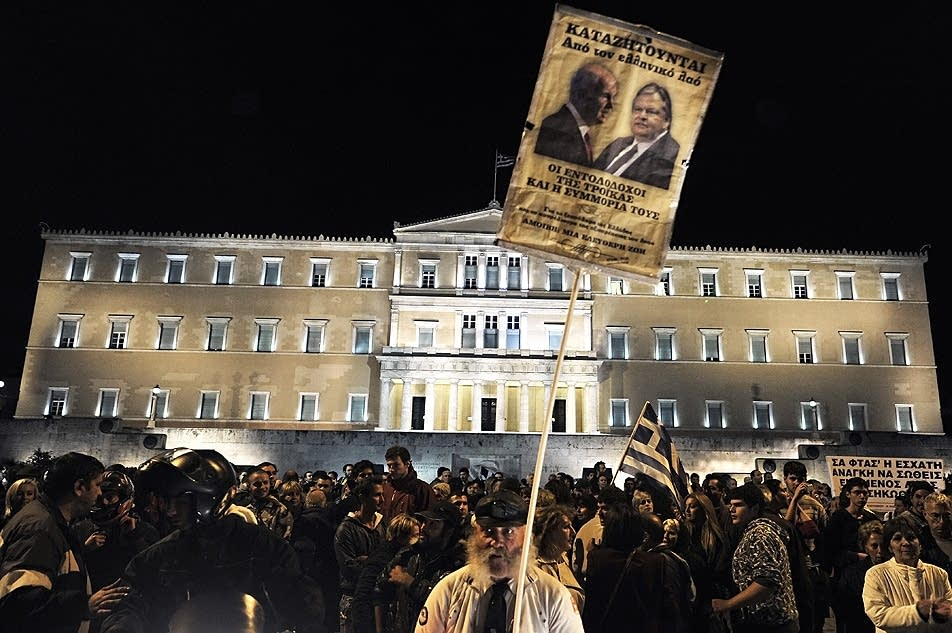 Greek demonstrators