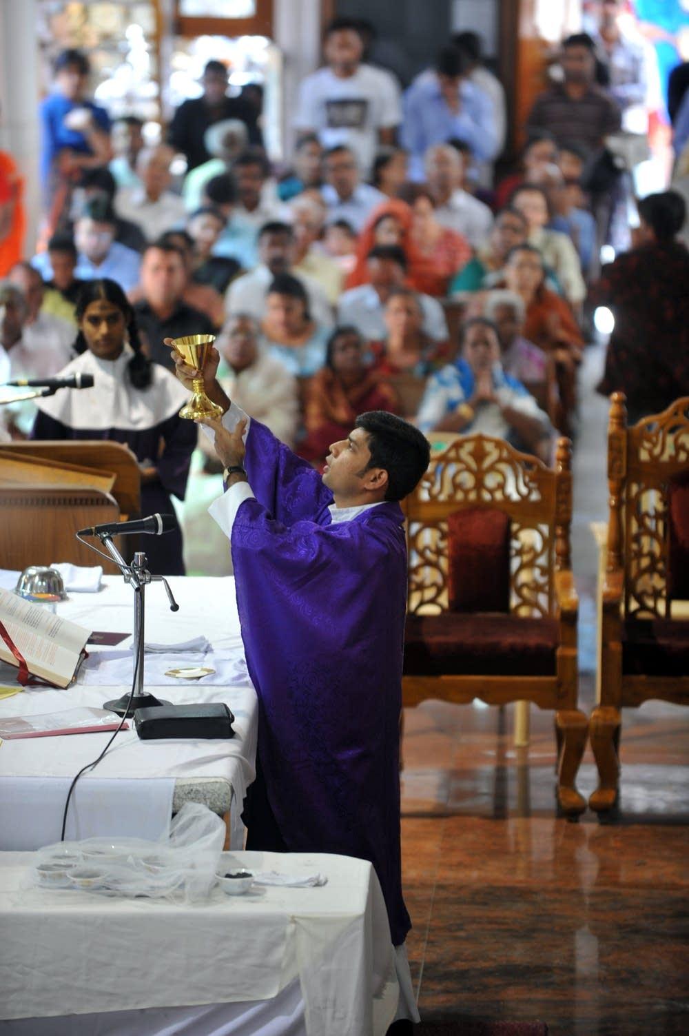 Indian Catholic Priest Madanu Maria Shek