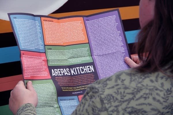 Conflict Kitchen's arepa wrapper