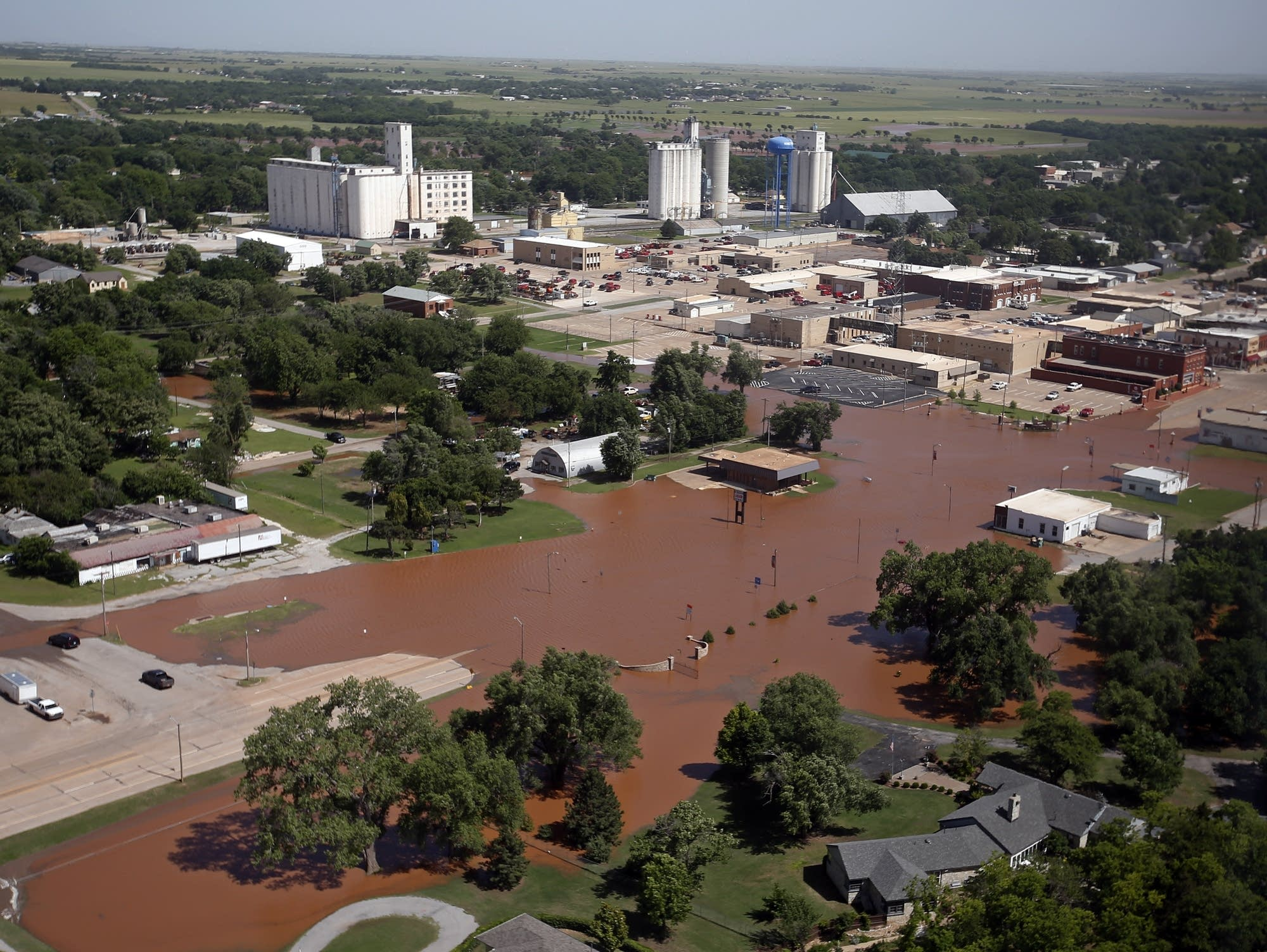 Flooding in Kingfisher, Okla. is pictured Tuesday, May 21, 2019.