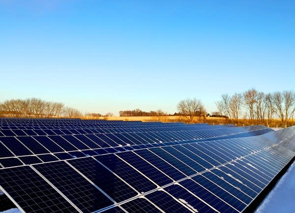One of the solar farms in CleanChoice Energy's community solar project