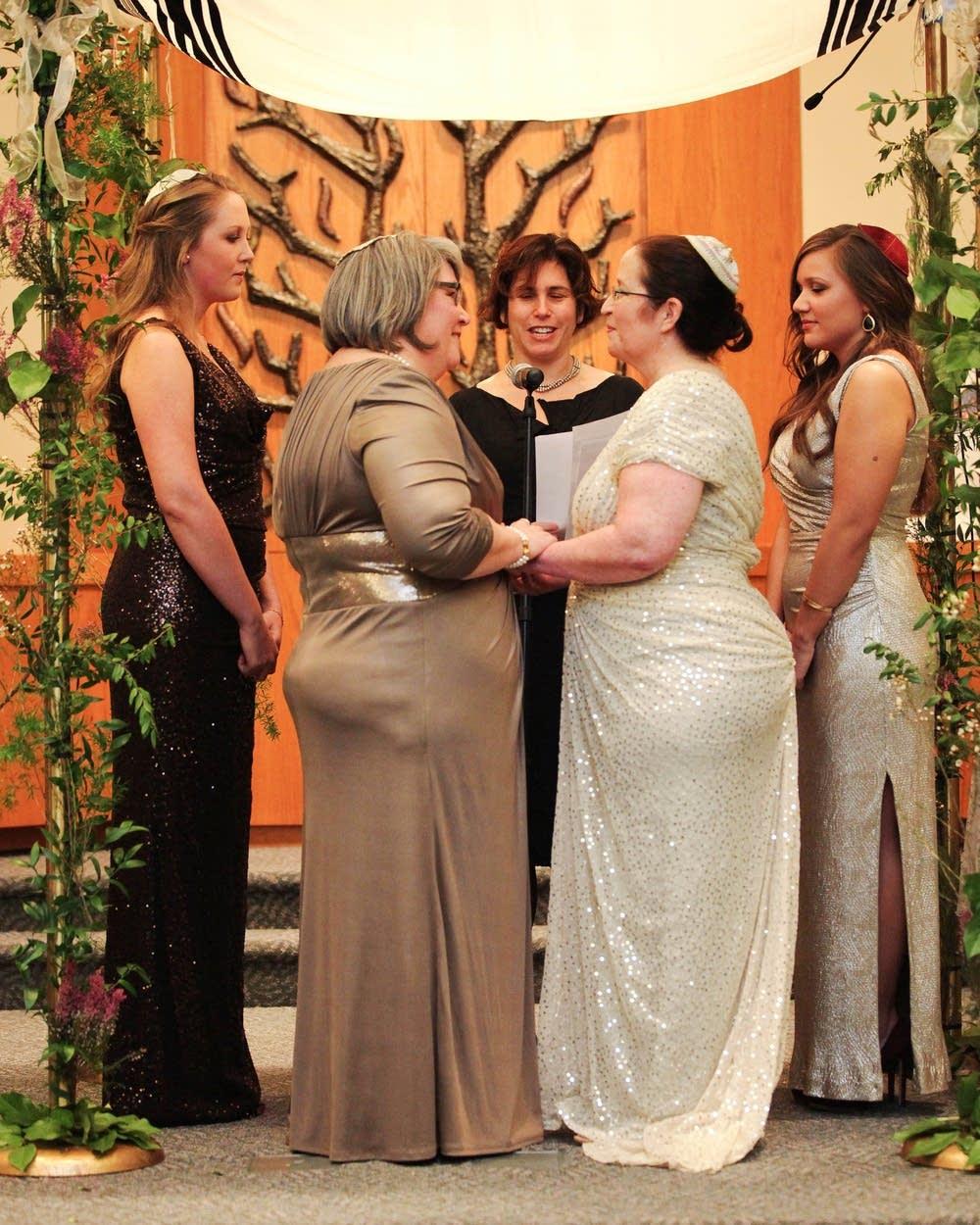 Same-sex couples making new wedding rituals  MPR News