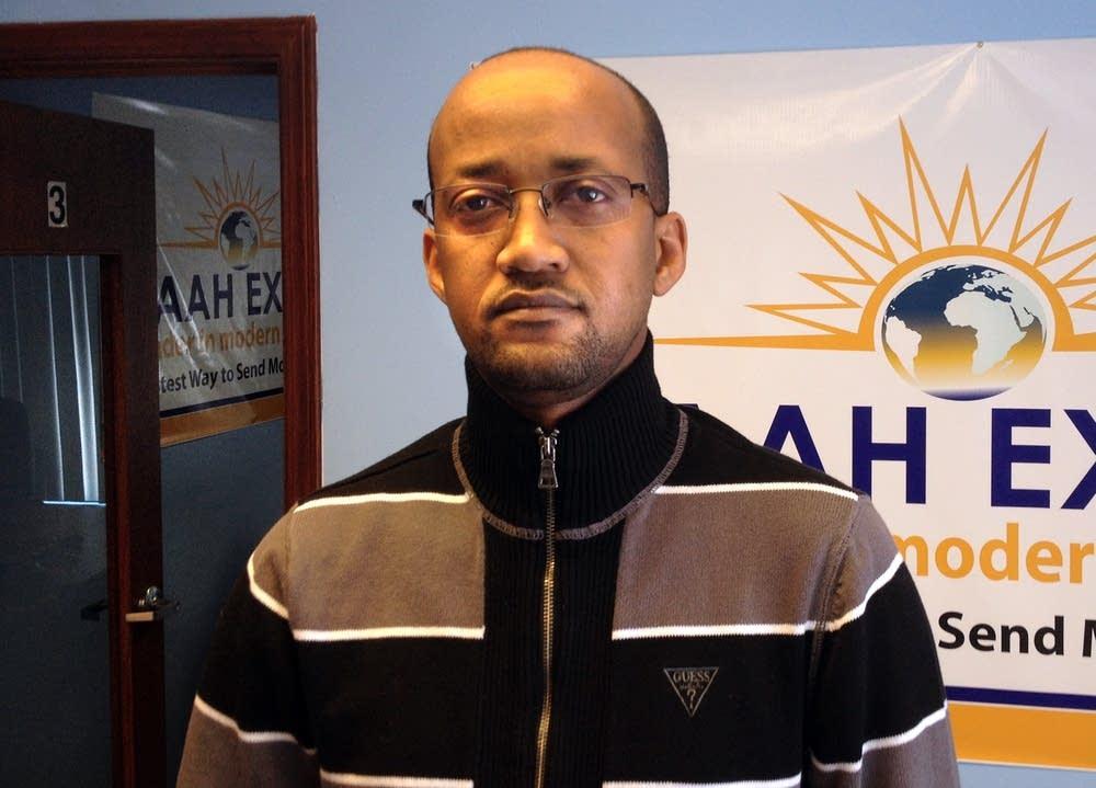 Aden Hassan, compliance officer for Kaah Express