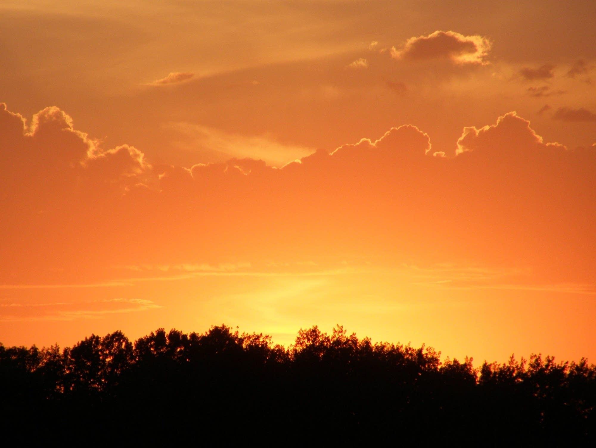 A Minnesota sunset