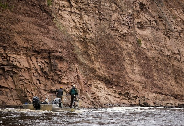 Researchers scan the St. Louis River.