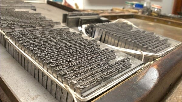 Letterpress type at Coffee House Press