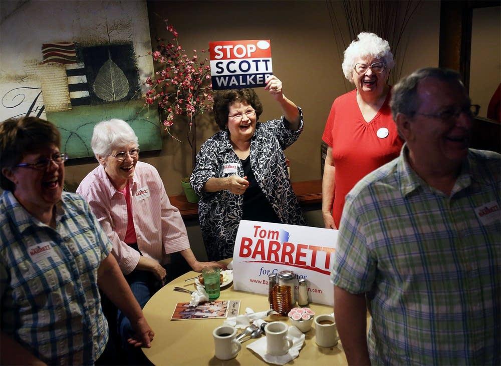 Barrett supporters