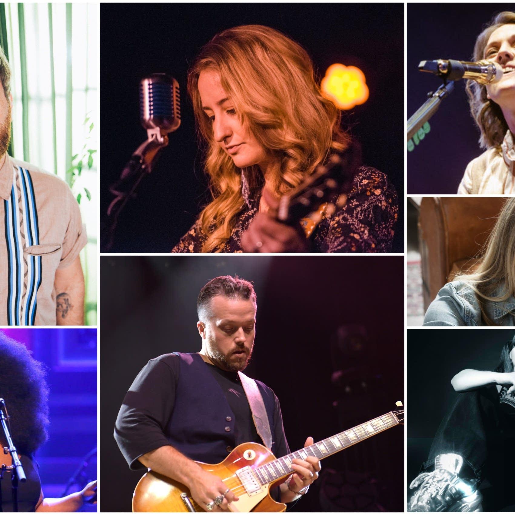 Nashville benefit concert artist collage