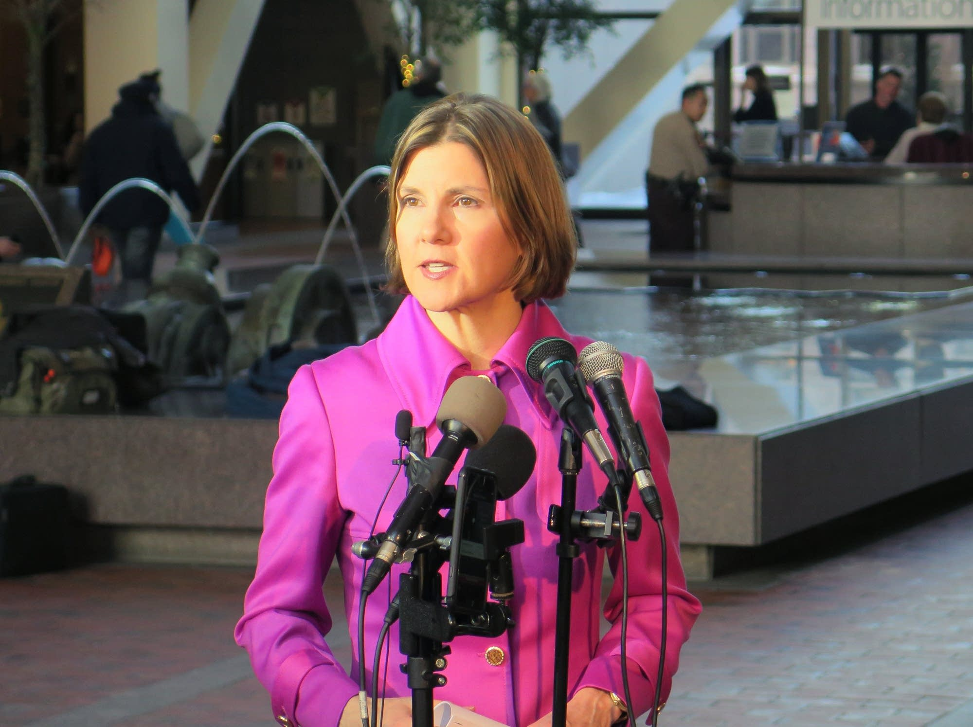 Atty. General Lori Swanson announces a settlement between the state and 3M