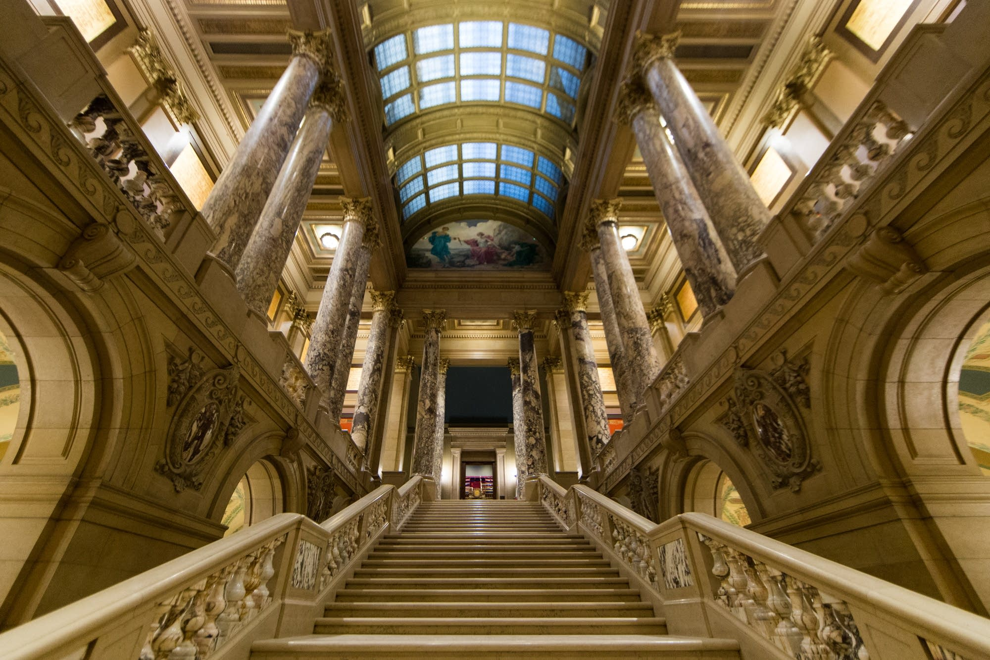 One the the Capitol's grand staircases.