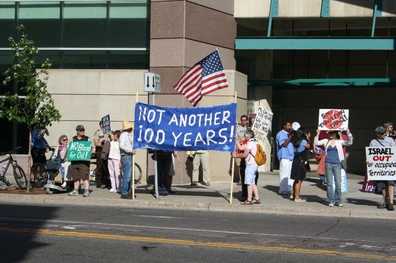 Anti-McCain protesters