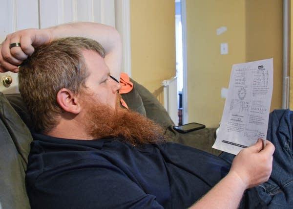 Paul Robling checking homework