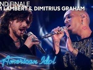 Adam Lambert and Dimitrius Graham on 'American Idol.'