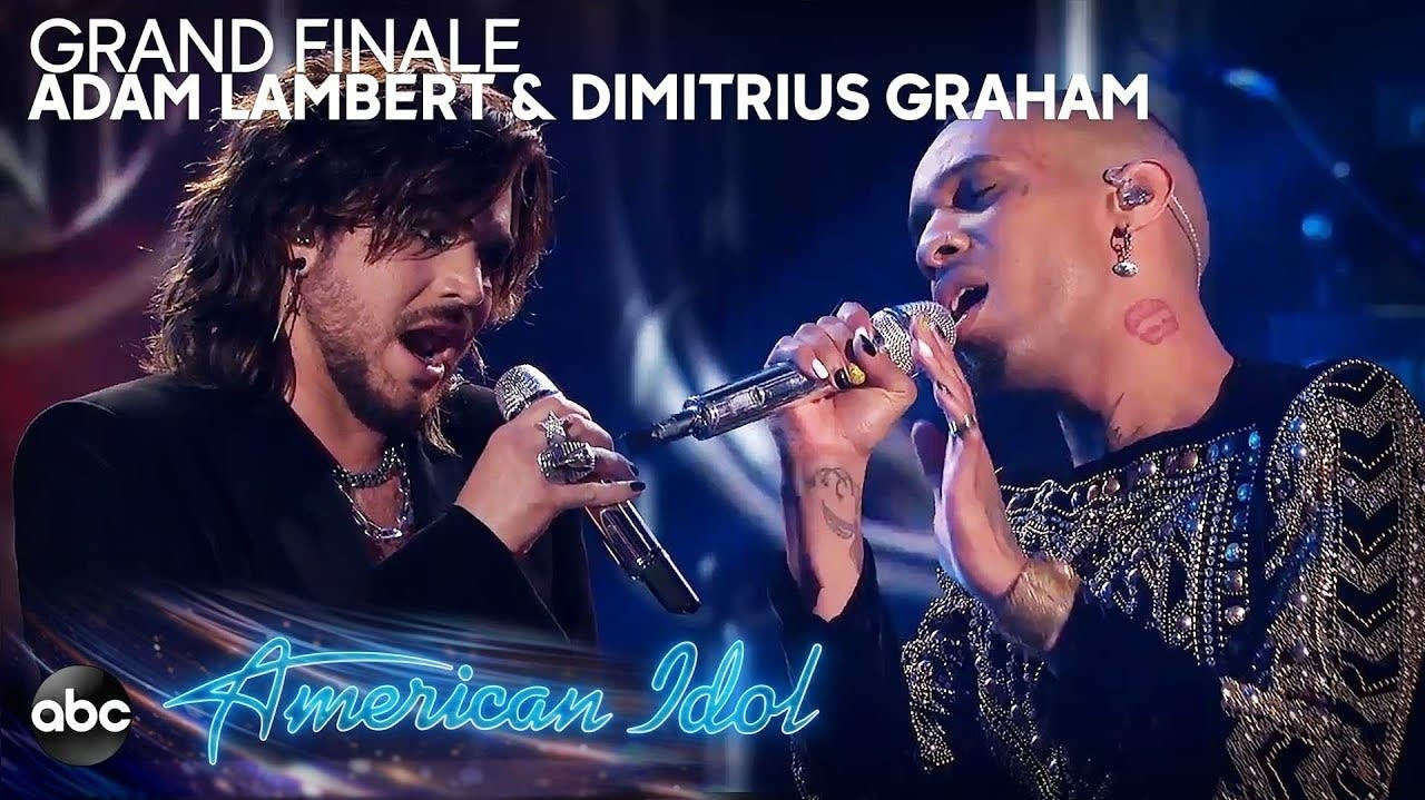 Adam Lambert and Dimitrius Graham on 'American Idol.'