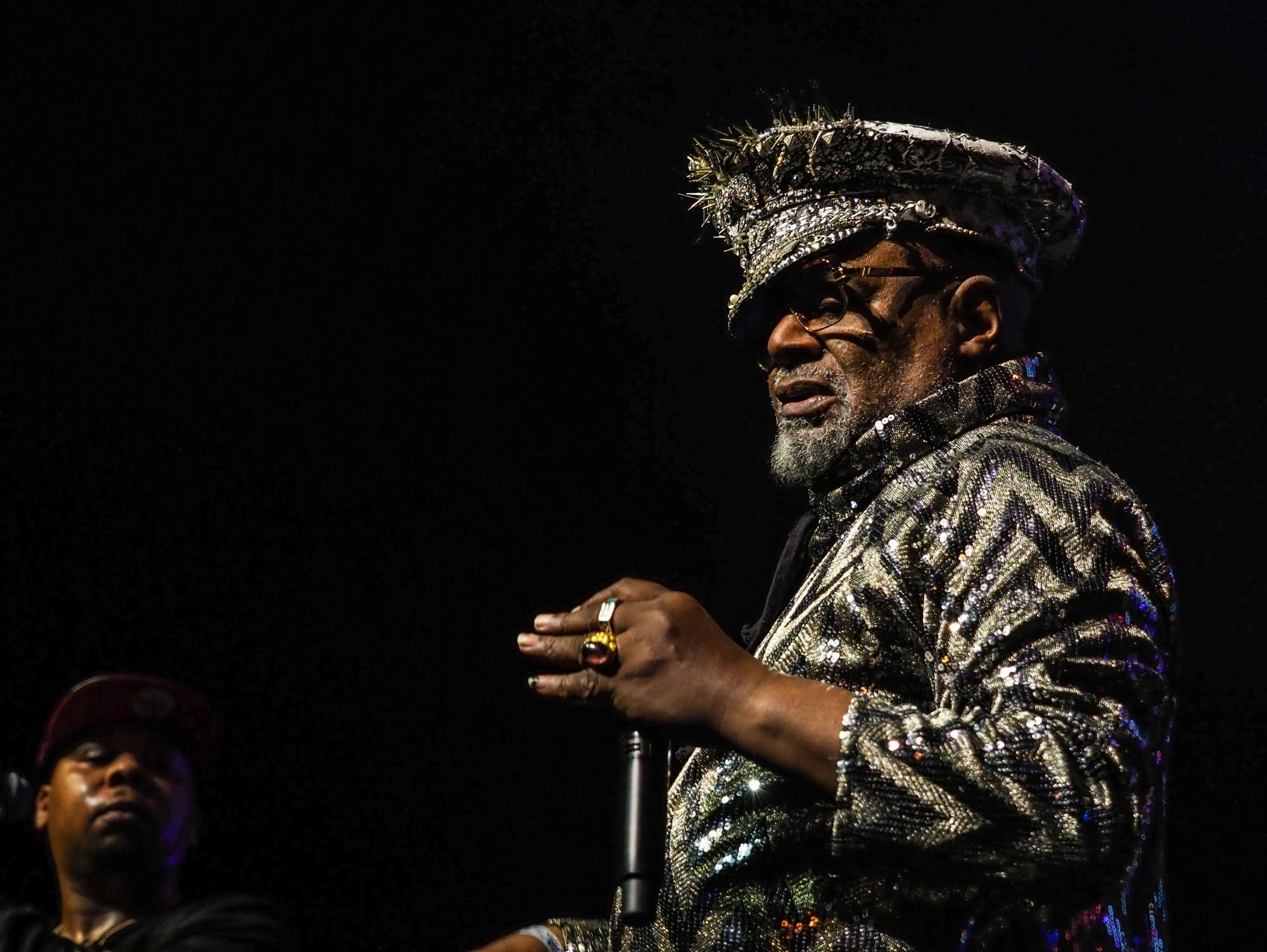George Clinton performs at Paisley Park