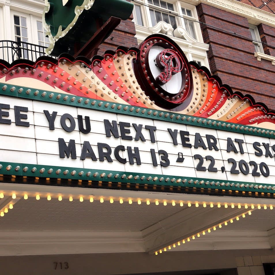 Marquee from conclusion of SXSW 2019