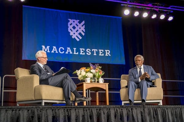 UN Secretary-General Kofi Annan at Macalester College.