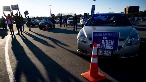 Former Vice President Joe Biden campaigns in St. Paul