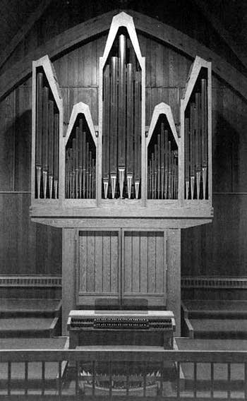 1981 Nordlie organ in the Brandon Lutheran Church, Brandon, SD
