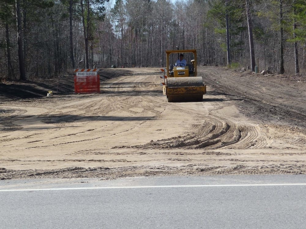 Red Lake reservation road construction