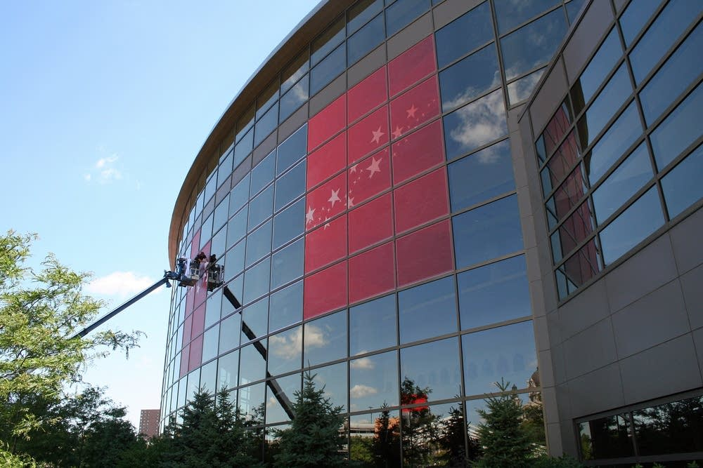 Exterior of Xcel Center
