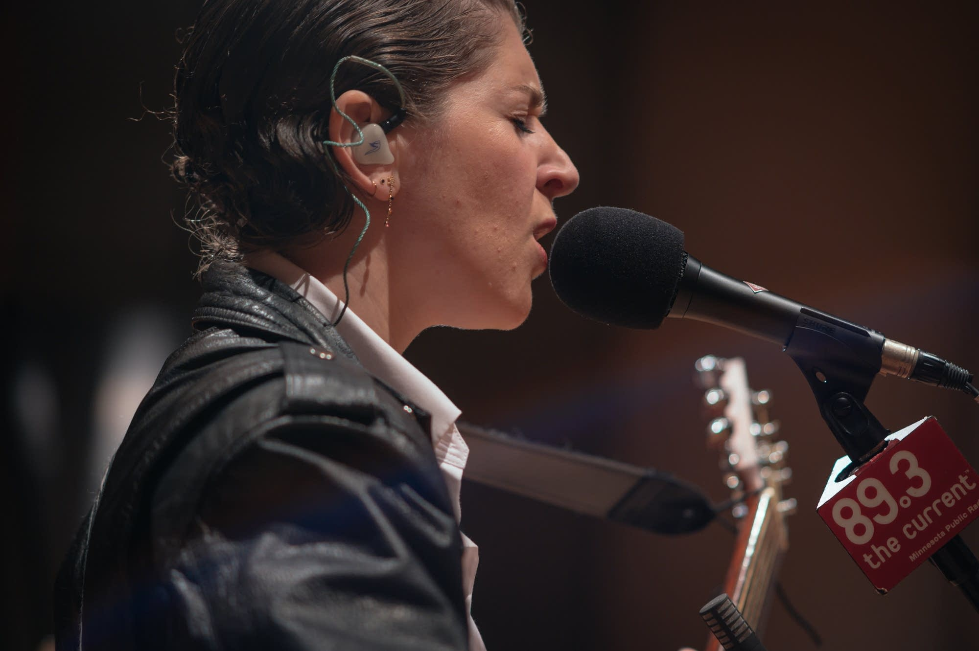 Overcoats perform in The Current studio