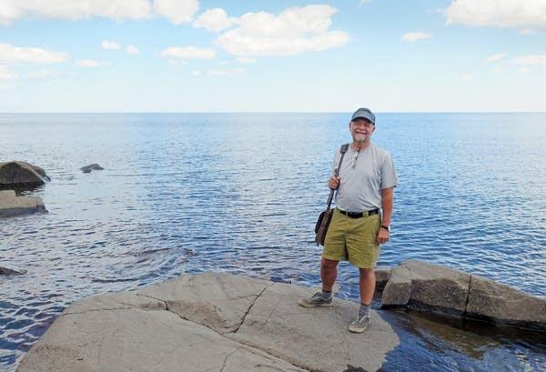 Gary Boelhower stood near Lake Superior.