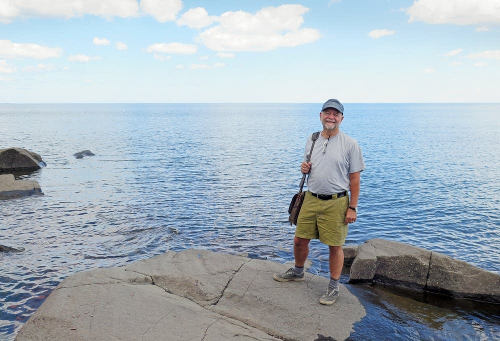 Gary Boelhower stood near Lake Superior.