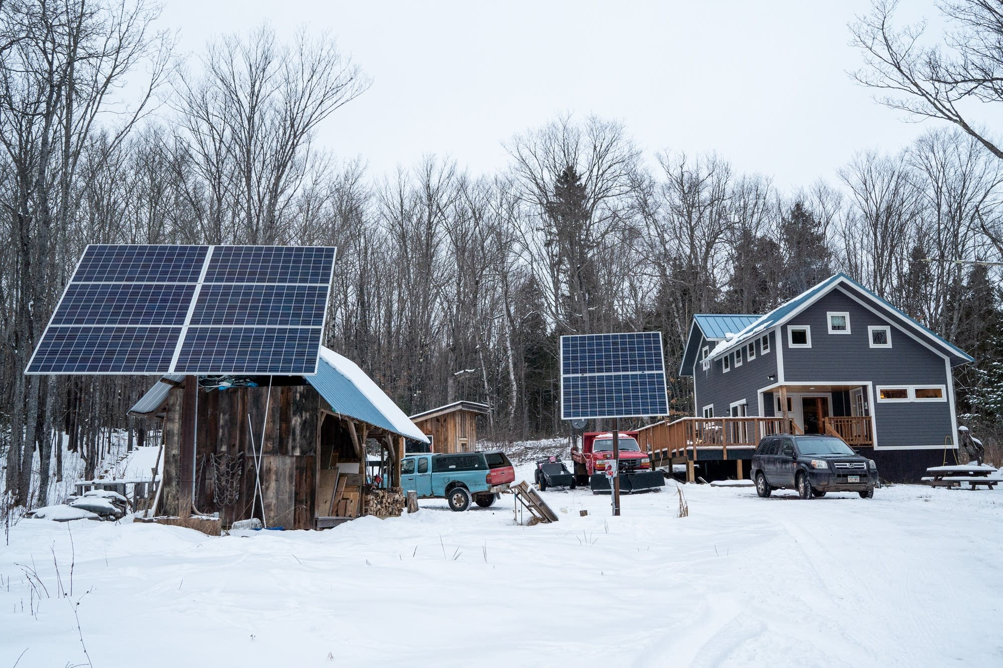 Multiple solar panels power Tamer and Yvette Ibrahims remote home