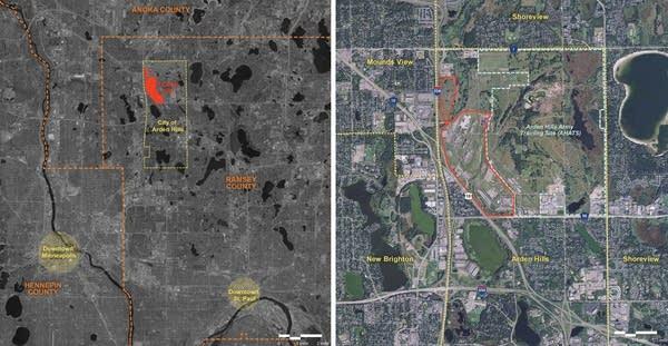 Maps  of the development site