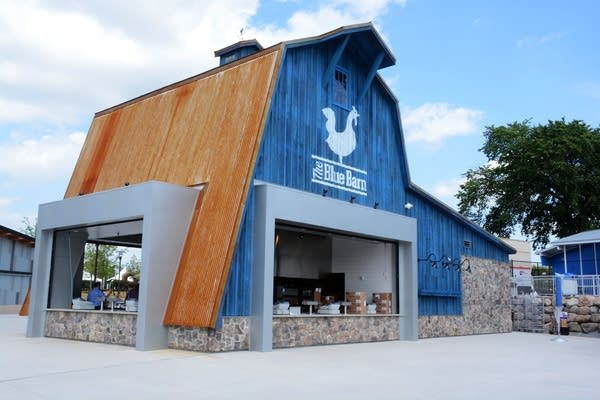 The Blue Barn is food stand at the State Fair.