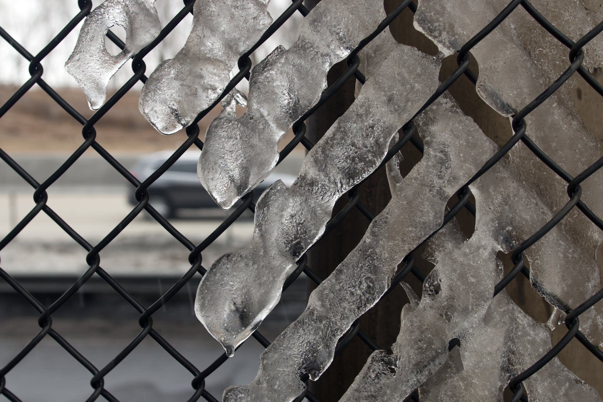 Ice melts in strange patterns alongside 694.