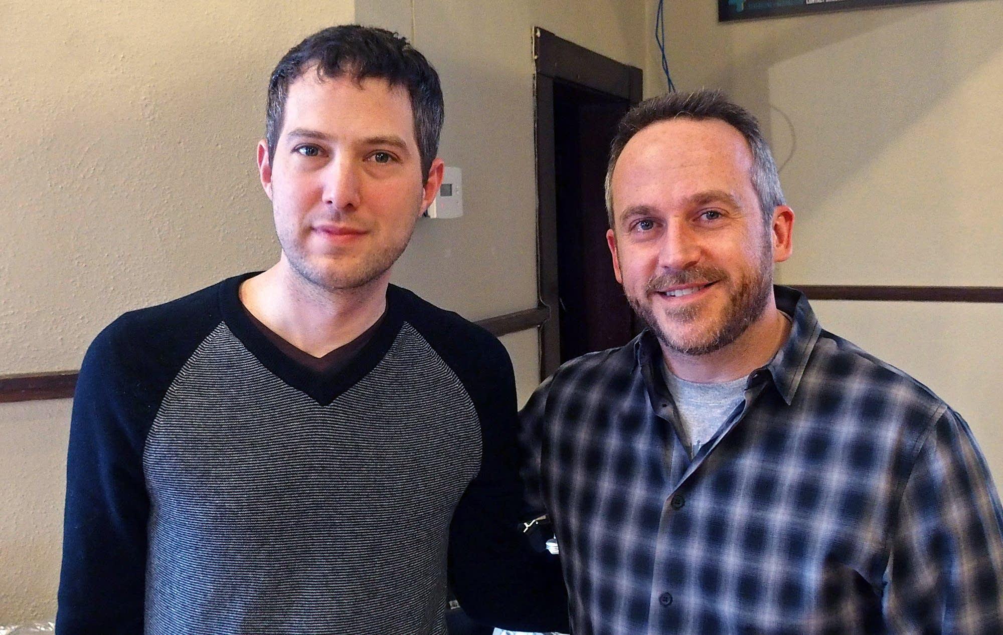 Playwrights Alex Levy and Gabriel Greene
