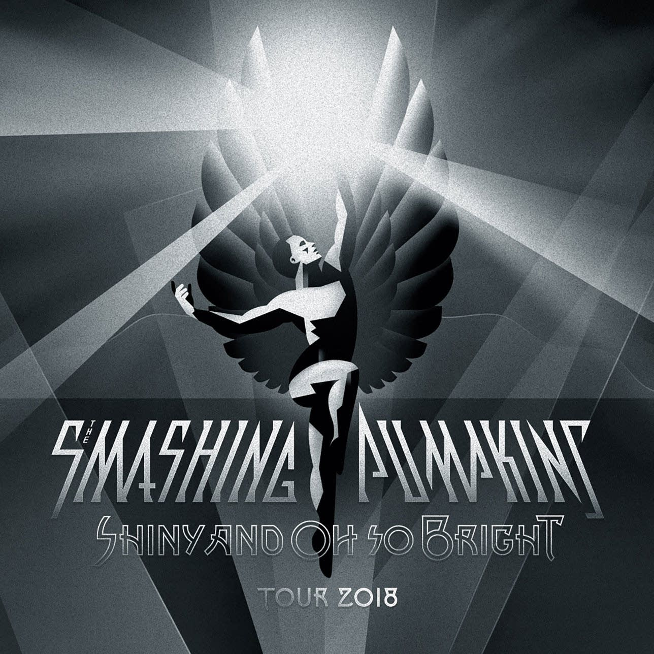 Poster for The Smashing Pumpkins' 2018 tour, Shiny and Oh So Bright.