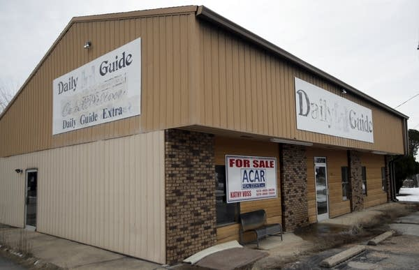 The old Daily Guide office stands for sale.