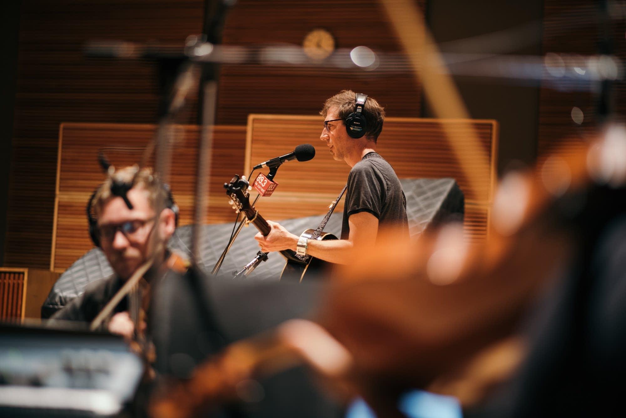 Fathom Lane and the Laurels String Quartet perform in the studio
