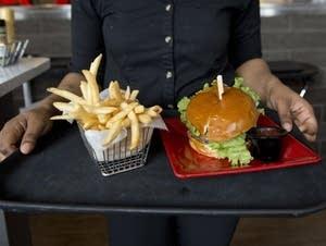 A simple burger