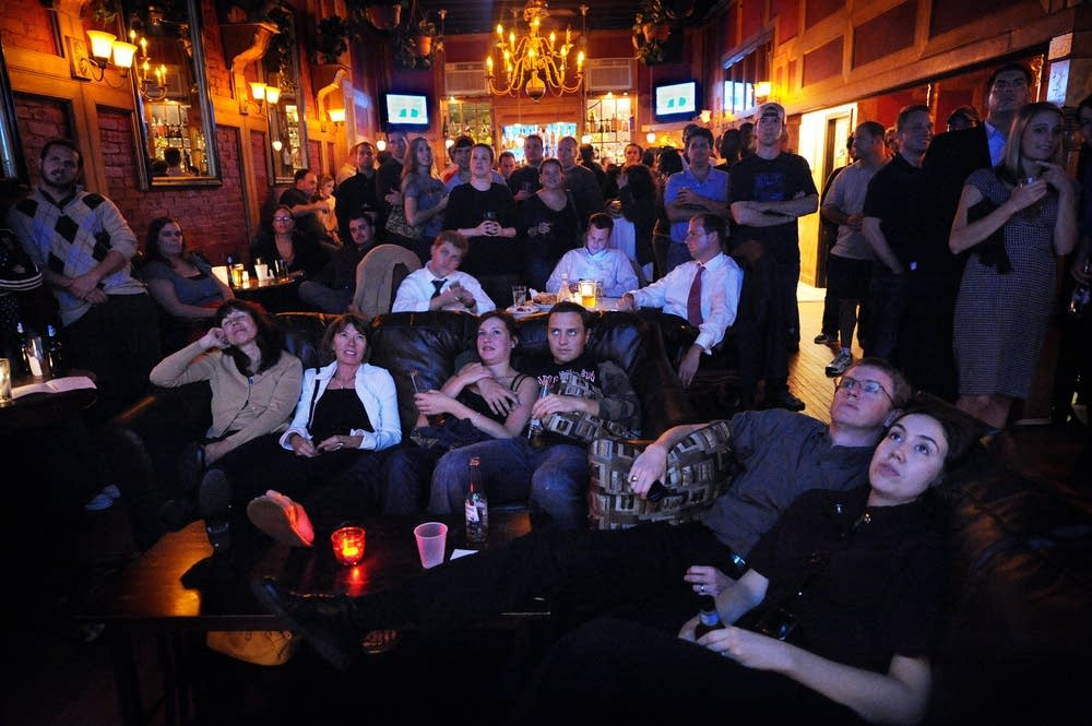 People watch the first U.S. Presidential debate