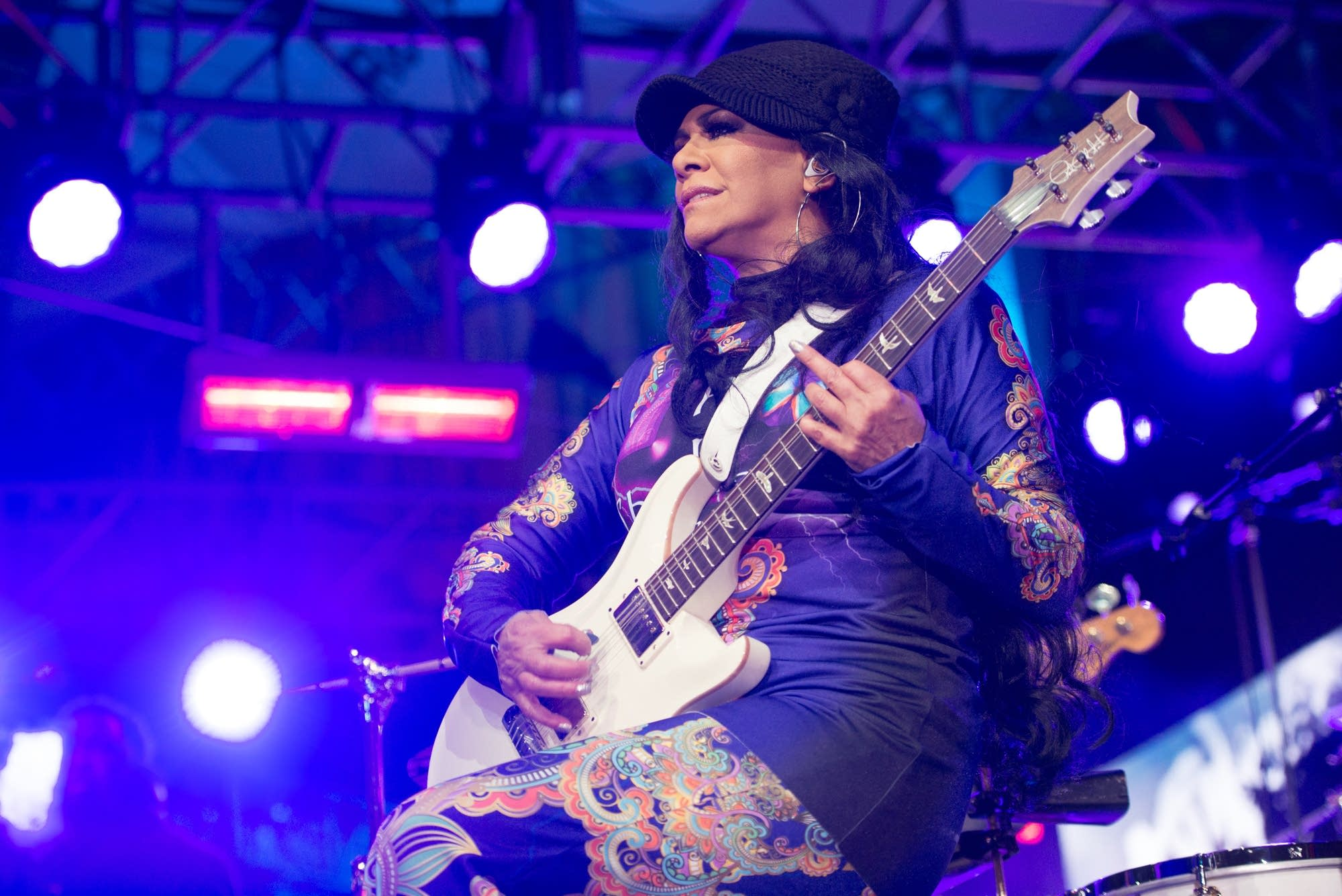 Sheila E performs during a Salute to Prince concert.
