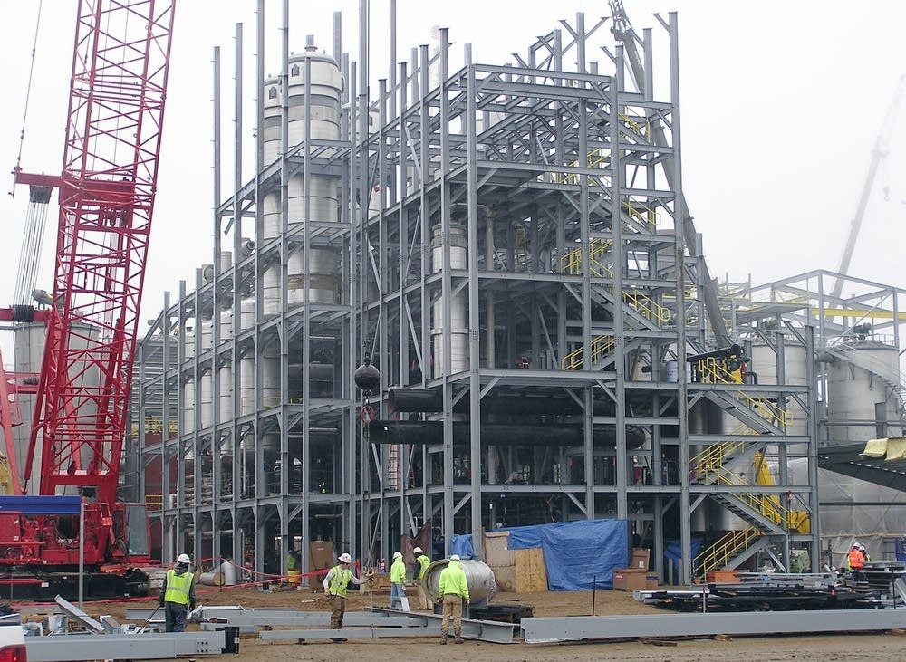 Cellulosic ethanol plant under construction