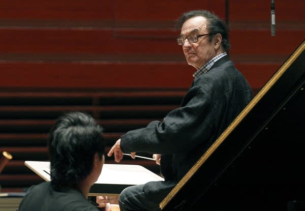 Charles Dutoit performs during a 2011 rehearsal