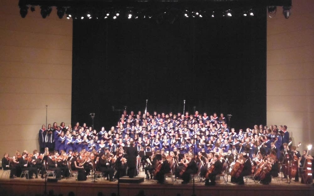 Robbinsdale Choirs and Orchestra blue
