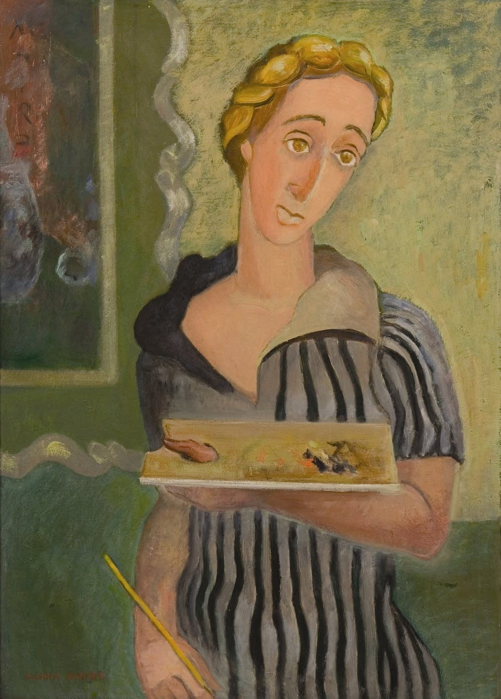 Clara Mairs self-portrait