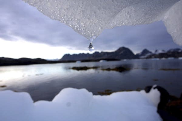 An iceberg melts in Kulusuk, Greenland, near the arctic circle.
