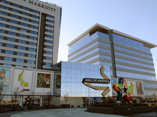 A new JW Marriot hotel stands to one side.