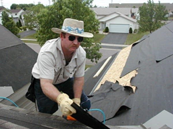 Roofer Steve Hackbarth