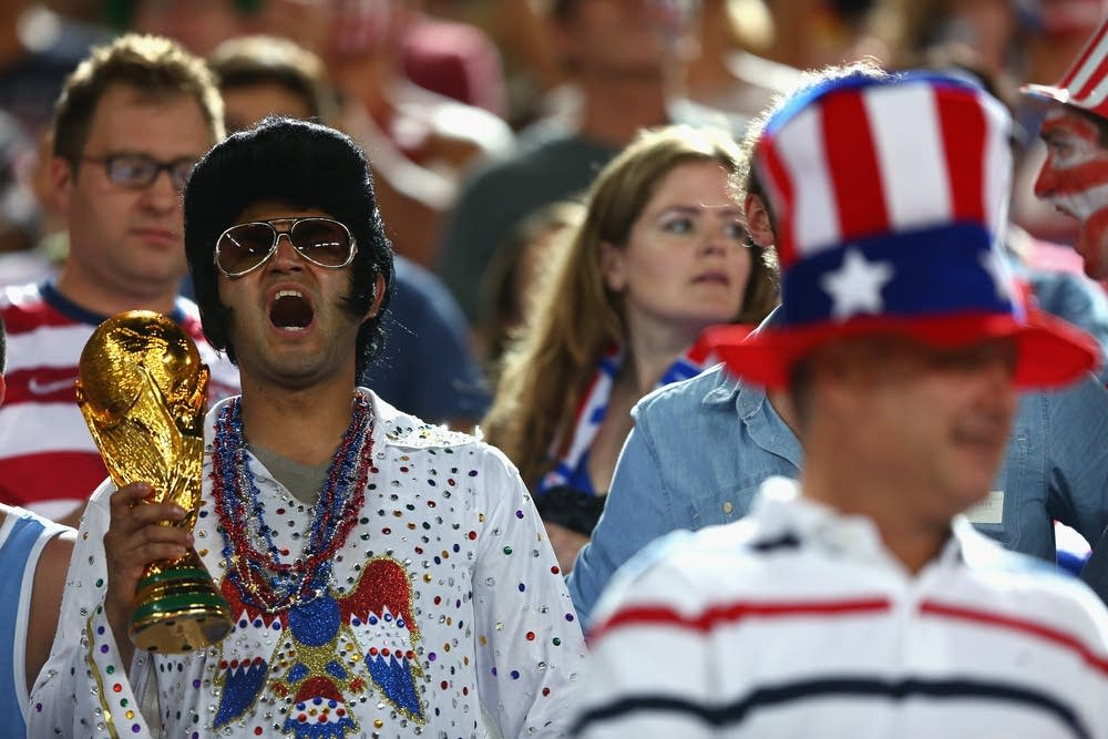 United States fan dressed as Elvis for World Cup
